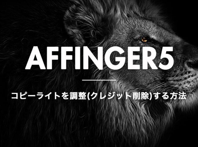 アフィンガー5でコピーライトを調整する方法【プラグイン無しで削除する方法もあり】