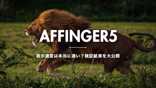 【アフィンガー5】表示速度は本当に速い?検証した結果を大公開