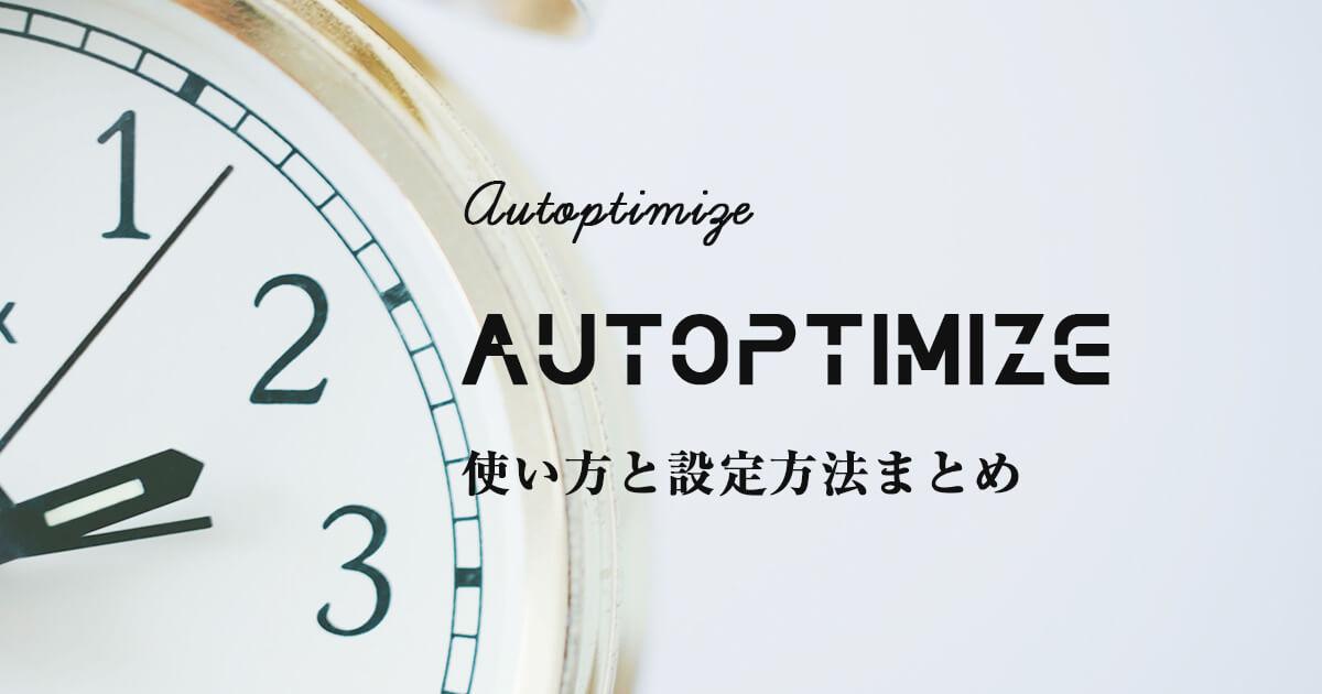 Autoptimizeの使い方と設定方法まとめ【画像付きで誰でもわかる】