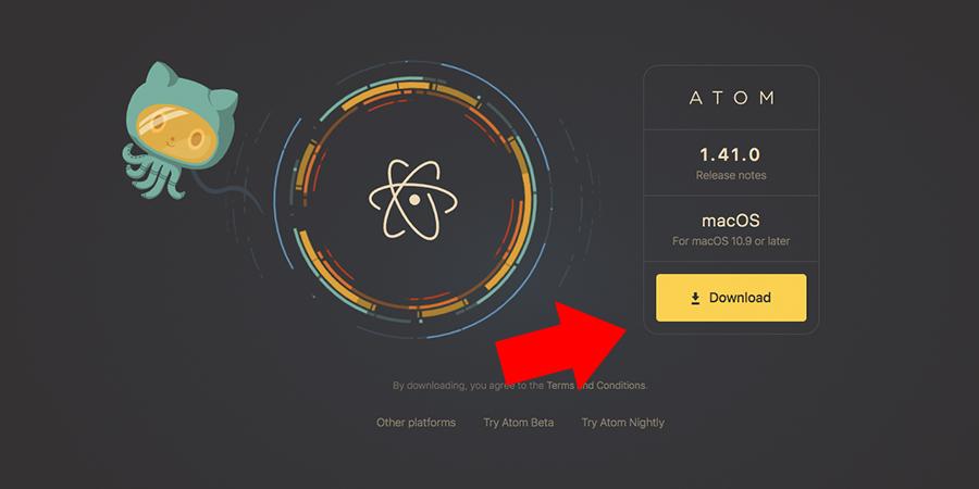 テキストエディタAtomのインストール方法