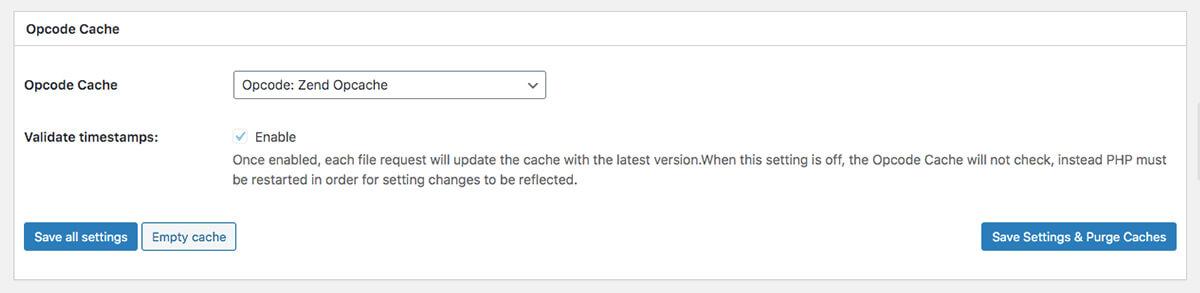 Opcode Cache(Opcodeキャッシュ)の設定
