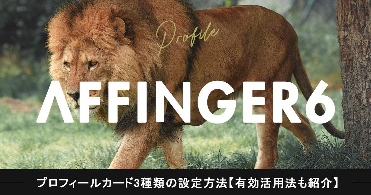 【アフィンガー6】プロフィールカード3種類の設定方法【有効活用法も教えます】