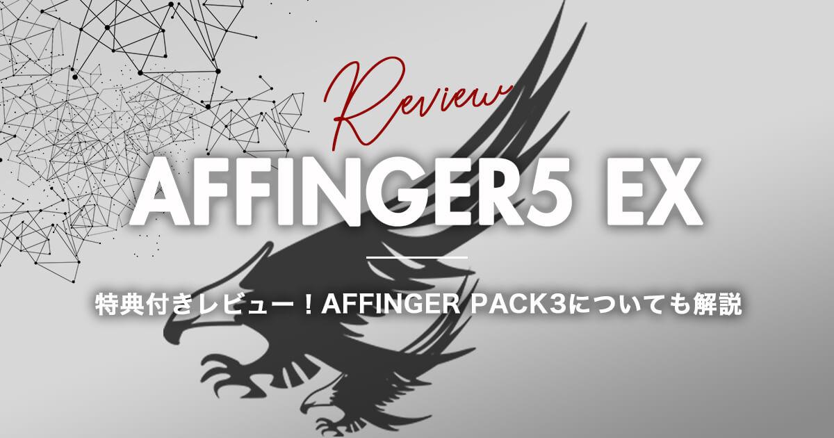 【AFFINGER PACK3】AFFINGER5 EXを特典付きレビュー!正直にお答えします。