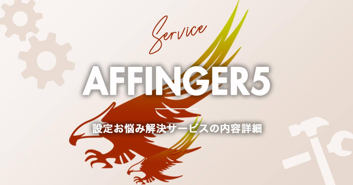 AFFINGER5(アフィンガー5)の設定お悩み解決サービスについて