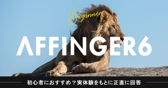 アフィンガー6(AFFINGER6)は初心者におすすめ?実体験をもとに正直に回答